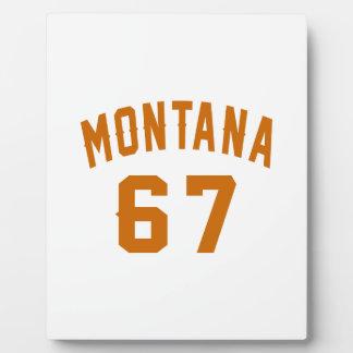 Montana 67 Birthday Designs Plaque