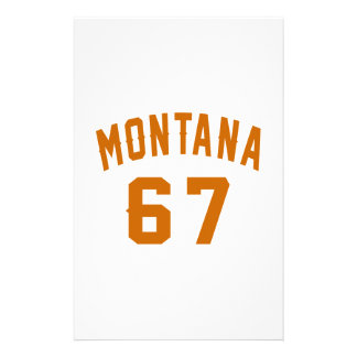 Montana 67 Birthday Designs Stationery