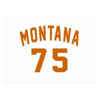 Montana 75 Birthday Designs Postcard