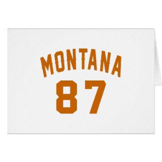Montana 87 Birthday Designs Card