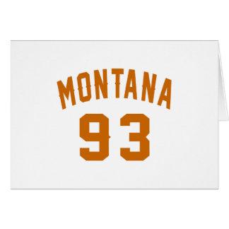 Montana 93 Birthday Designs Card