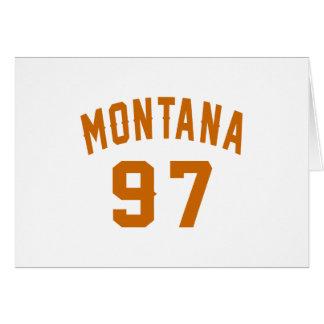 Montana 97 Birthday Designs Card