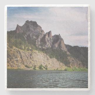 Montana - A River Runs Through It Stone Coaster