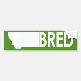 Montana Bred Bumper Sticker