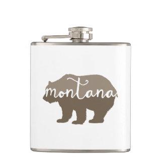 Montana brown bear flask