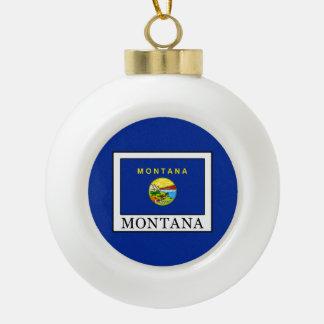 Montana Ceramic Ball Christmas Ornament