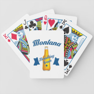 Montana Drinking team Bicycle Playing Cards