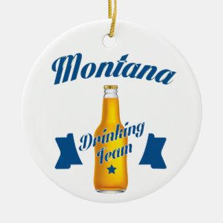 Montana Drinking team Ceramic Ornament
