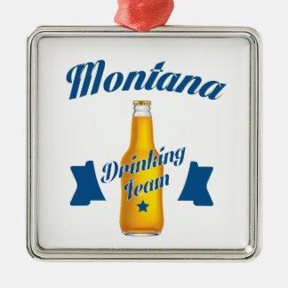 Montana Drinking team Metal Ornament