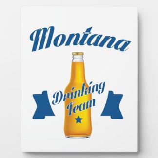 Montana Drinking team Plaque