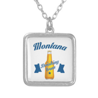 Montana Drinking team Silver Plated Necklace