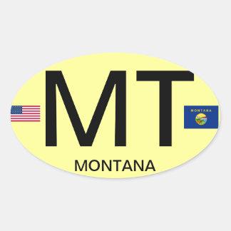 Montana Euro-style Oval Sticker