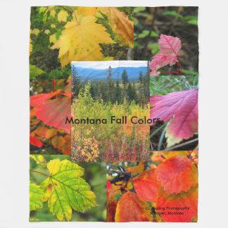Montana Fall Colors Large Fleece Blanket 60 x 80