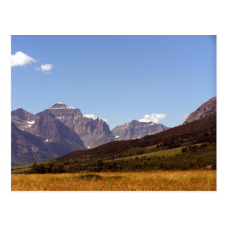 Montana Fields & Mountains Postcard