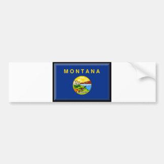 Montana Flag Bumper Sticker