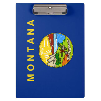 Montana Flag Clipboard