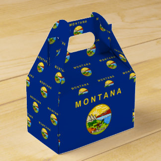 Montana Flag Favor Box