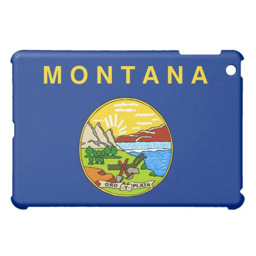 Montana Flag iPad Case (horizontal)