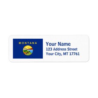 Montana Flag Return Address Labels