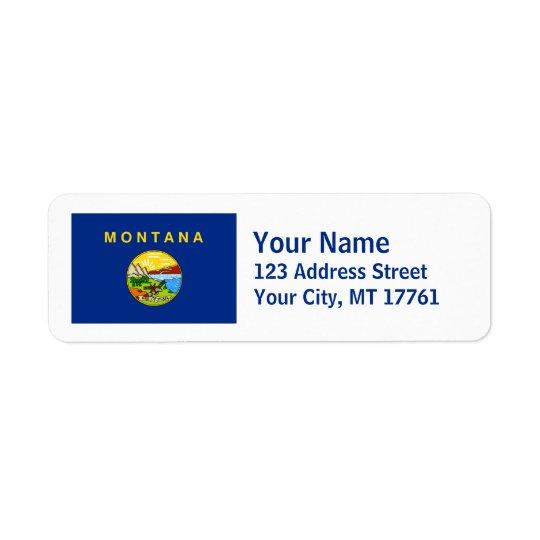 Montana Flag Return Address Labels