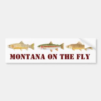 Montana Fly Fishing Bumper Sticker