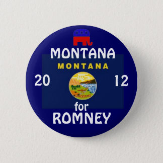 Montana for Romney 2012 2 Inch Round Button