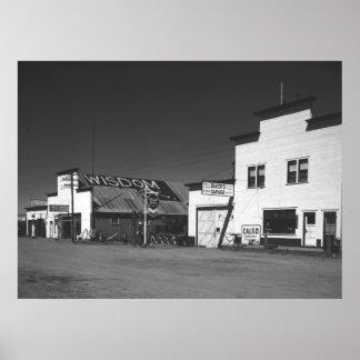 Montana Gas Stations, 1942 Print