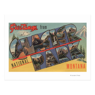 Montana - Glacier National Park Postcard