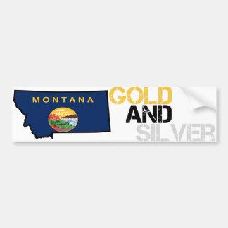 Montana Gold and Silver Bumper Sticker