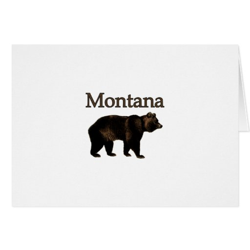 Montana Grizzly Bear Card