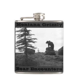 Montana Grizzly Bear Encounters Hip Flask