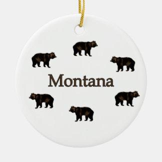 Montana Grizzly Bears Ceramic Ornament