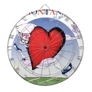 montana head heart, tony fernandes dartboard