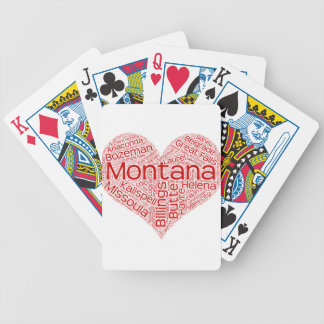 Montana-heart Bicycle Playing Cards