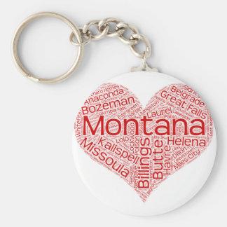 Montana-heart Keychain