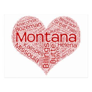 Montana-heart Postcard