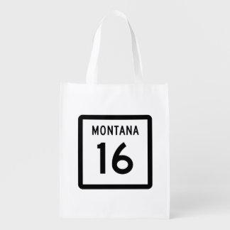 Montana Highway 16 Reusable Grocery Bag