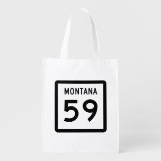 Montana Highway 59 Grocery Bag