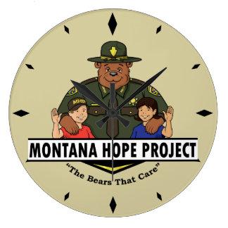 Montana Hope Project clock (tan)