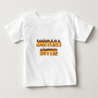 Montana hottie fire and flames baby T-Shirt