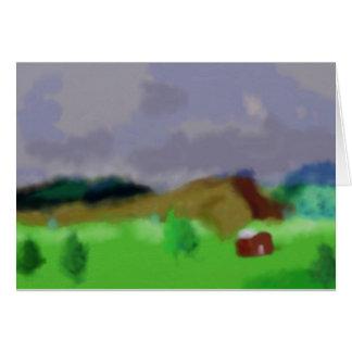 Montana Landscape Art Card