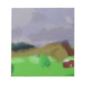 Montana Landscape Art Notepad