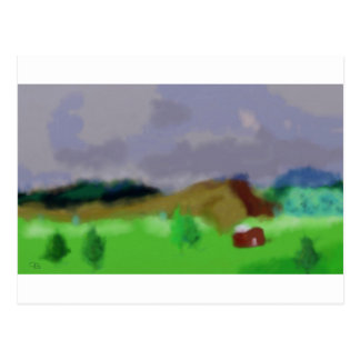Montana Landscape Art Postcard