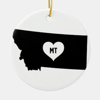 Montana Love Ceramic Ornament