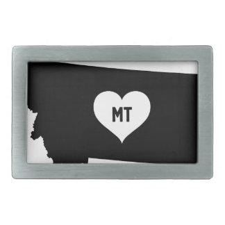 Montana Love Rectangular Belt Buckle