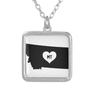 Montana Love Silver Plated Necklace