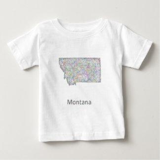 Montana map baby T-Shirt
