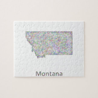 Montana map jigsaw puzzle