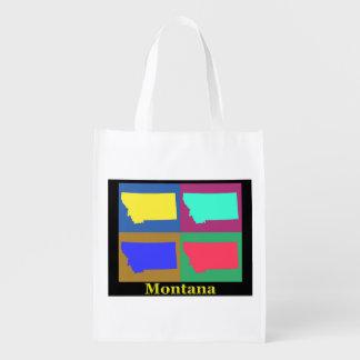 Montana Map Reusable Grocery Bags