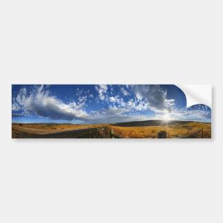 Montana Morning Fields Landscape Panorama Bumper Sticker